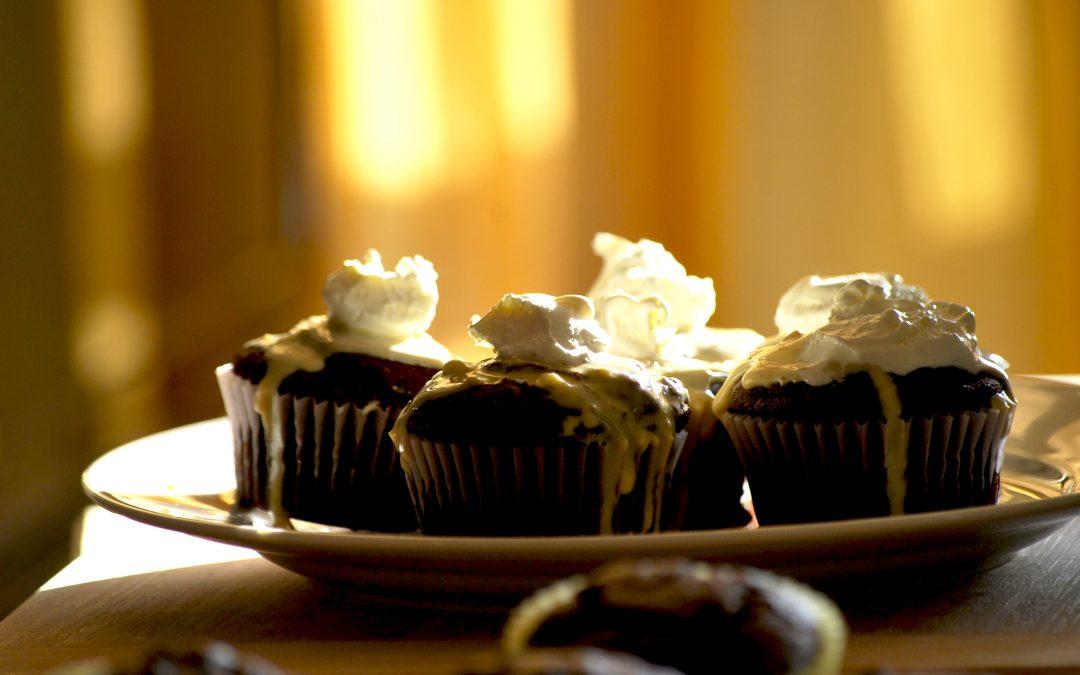 Day 12: Chocolate Pumpkin Cupcakes
