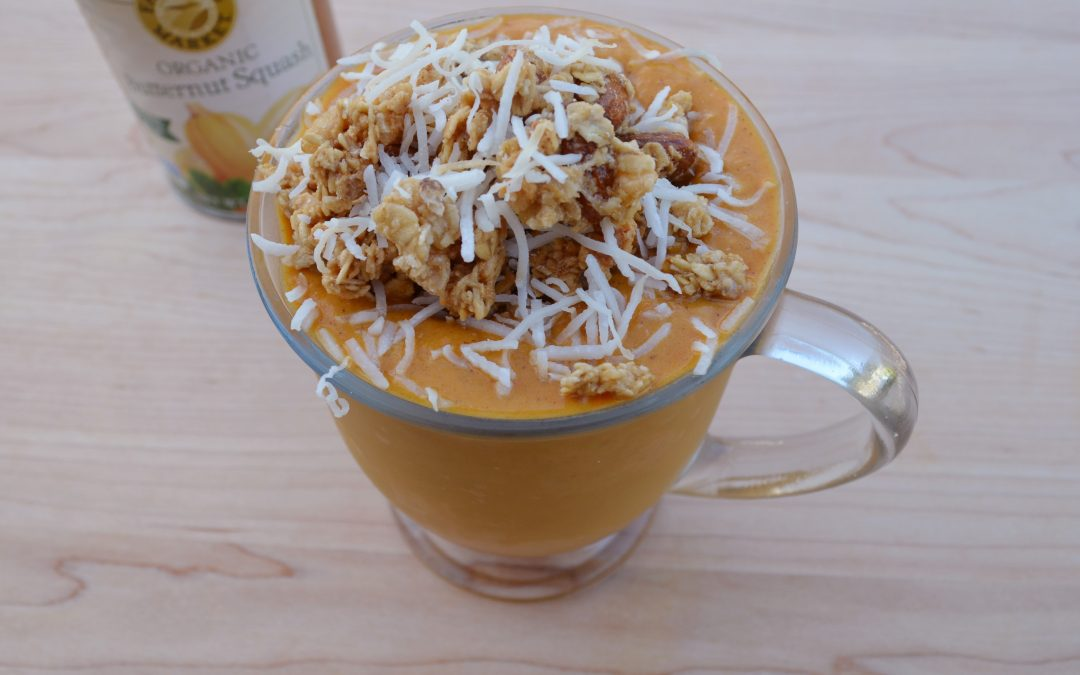 Butternut Squash, Carrot Turmeric Smoothie Bowl