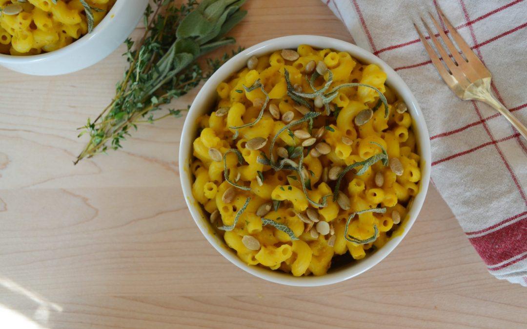 Gluten-Free Creamy Herb Pumpkin Pasta